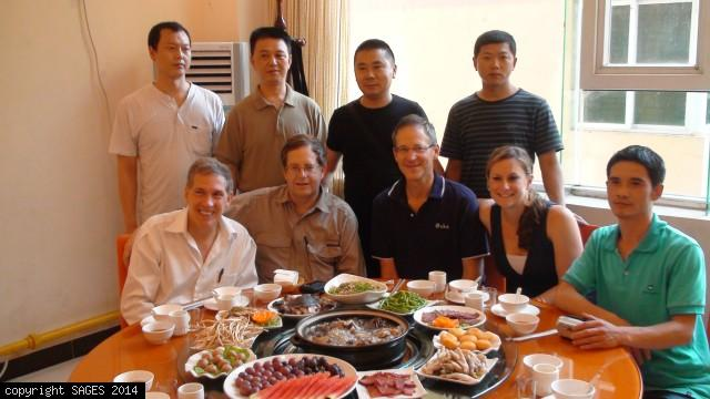 Dinner GoGlobal PingChang China 2009