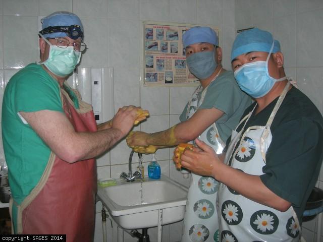 Scrubing in Murun Mongolia