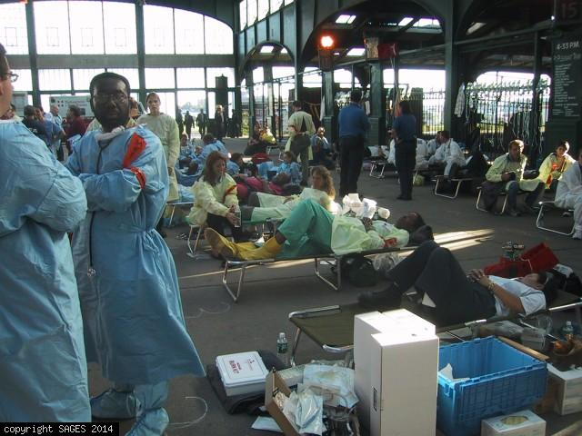 Doctors waiting for patients 9/11/01