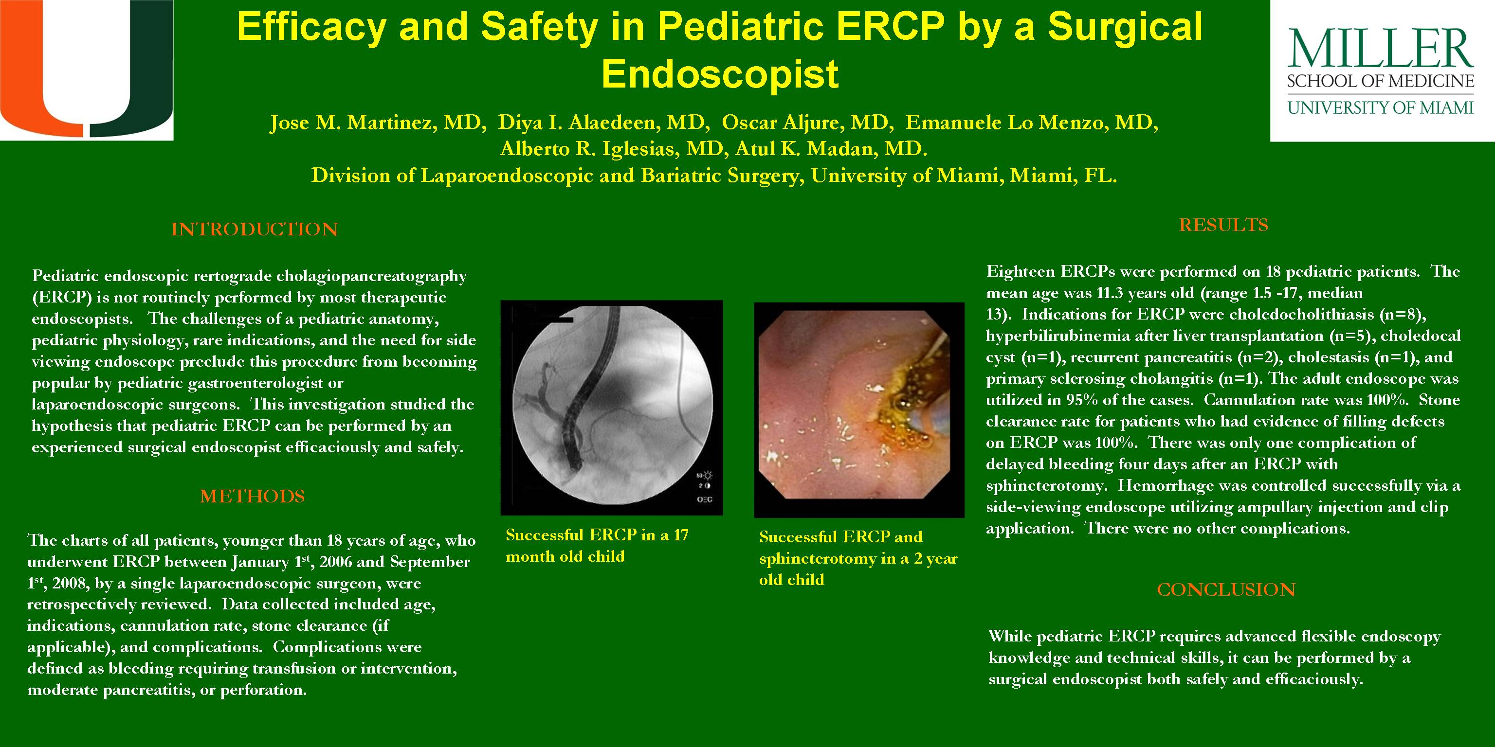 Efficacy and Safety in Pediatric ERCP By a Surgical