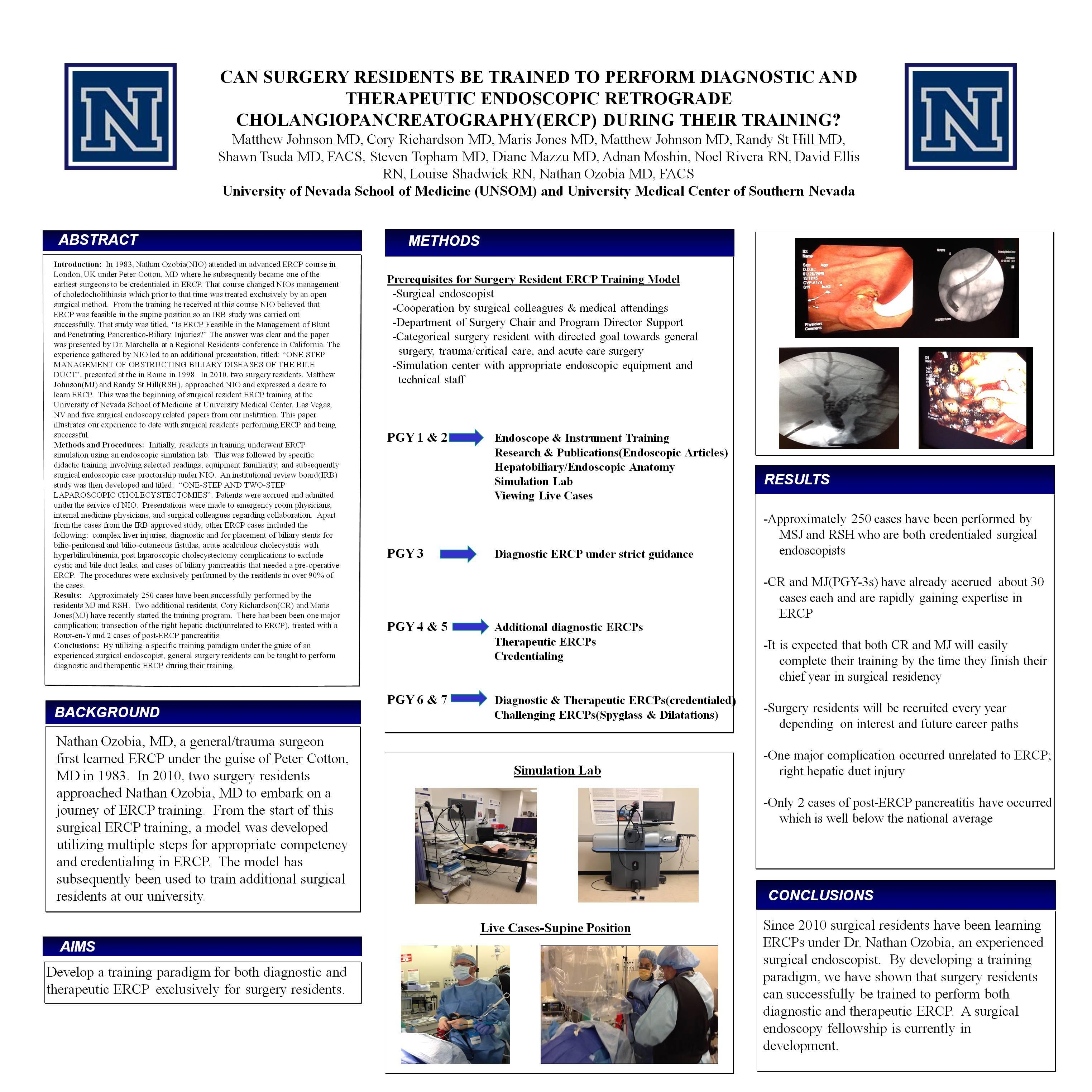 Can Surgery Residents Be Trained to Perform Diagnostic and