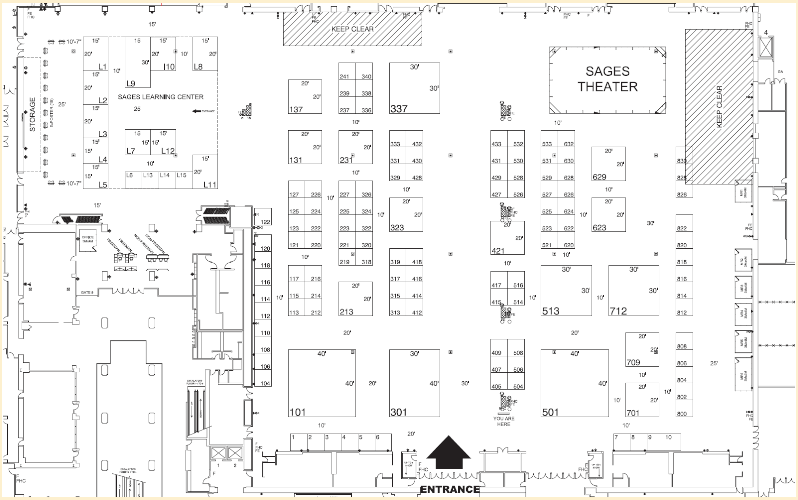 Exhibit Hall Floor Plan SAGES CAGS Host the 16th World Congress – Washington State Convention Center Floor Plan