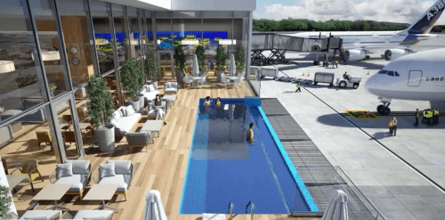This Airport Is Building Outdoor Swimming Pool For Their Passengers