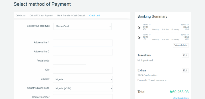 Step By Step On How To Book The Cheapest fare Online Using Travelstart Nigeria