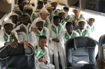 Russia 2018 World Cup: Super Eagles Redefine Travel Outfit, See The Unusual Outfit And Reactions