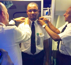 24 Years After, A Former Nigerian Aircraft Cleaner Turns Captain