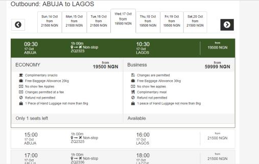 Cheap Flight: Fly Within Lagos & Abuja For 19,500 On Azman