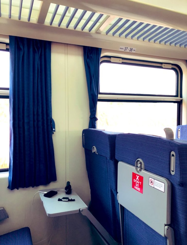 Ohh... Look at this wonderful seat table. you can work, eat comfortably as you ride the Lagos - Ibadan train.