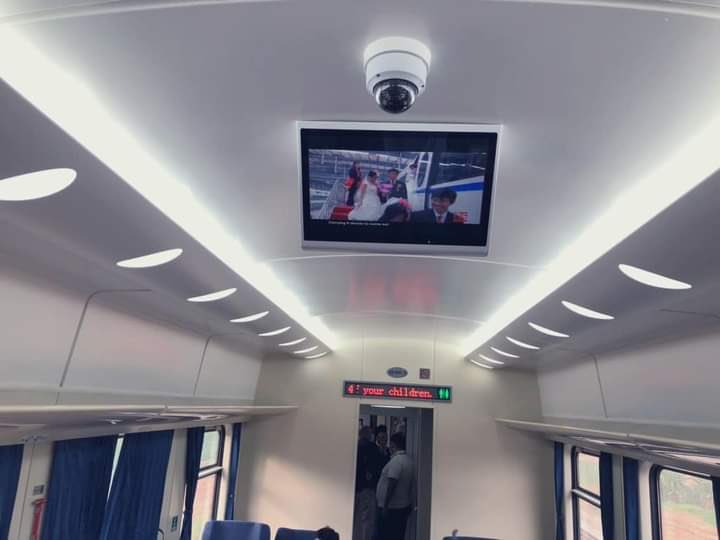 You can also watch movies inside  Lagos - Ibadan Train