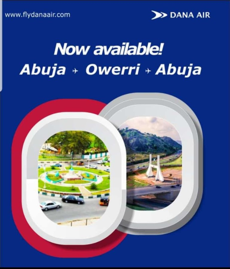 Dana Air has Cheap Flights from Owerri to Lagos & Abuja