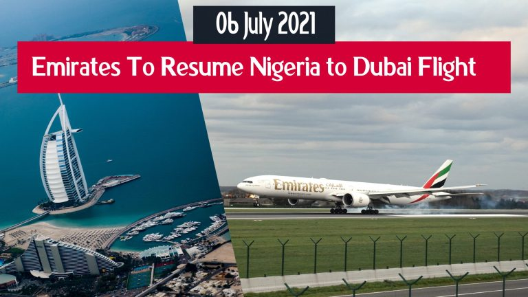 Emirates To Resume Flights From Nigeria To Dubai 6 July