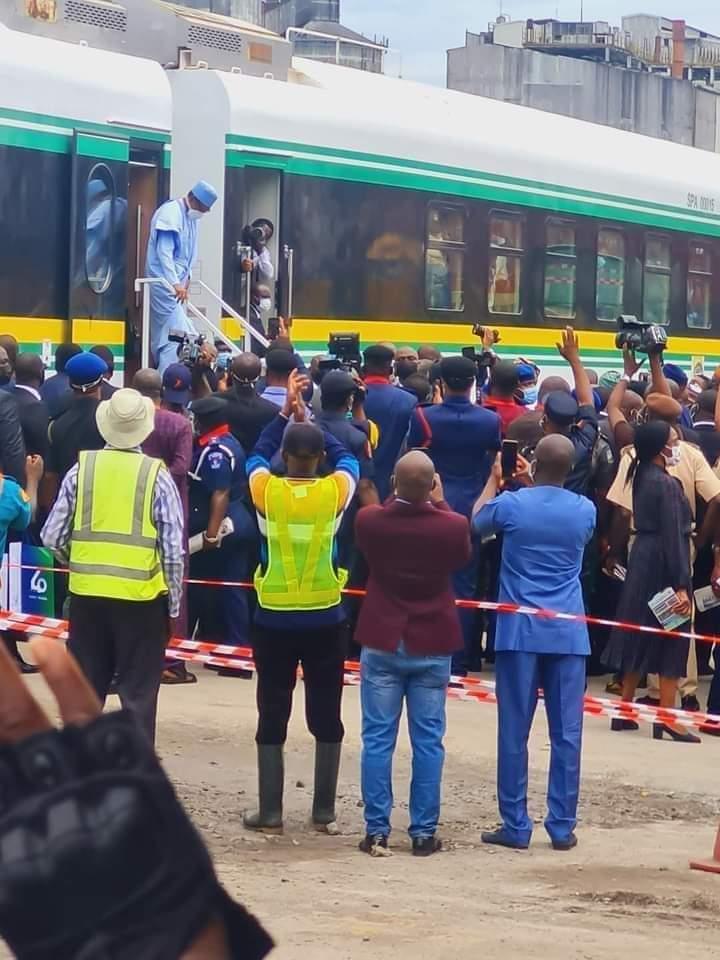 Train: Buhari Commissions Lagos - Ibadan Railway