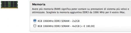Opzioni di Personalizzazione RAM per l'iMac da 21,5