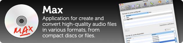 max rippa cd e converti file audio in tutti i formati possibili