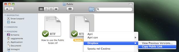 DropBox condivisione file