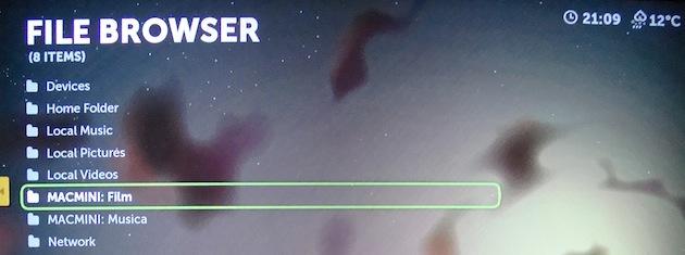 accedere ad un server upnp tramite apple tv per eseguire i film via rete