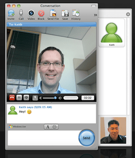 video chat nel nuovo messenger for mac
