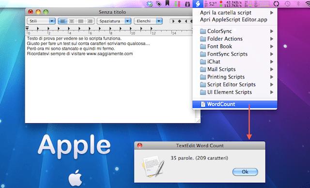 Conta Caratteri per TExtEdit con Applescript