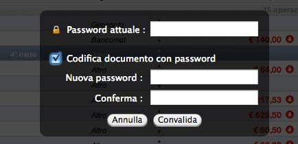 password dati finanziari protetti mac