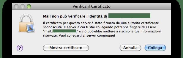 autorizza server mail
