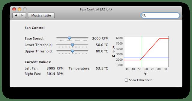 controllare temperatura mac