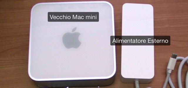 Mac mini alimentatore esterno