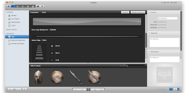 personalizzare icone e dock