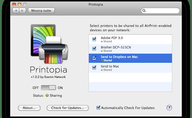 airprint con tutte le stampanti