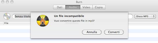 convertire in MP3