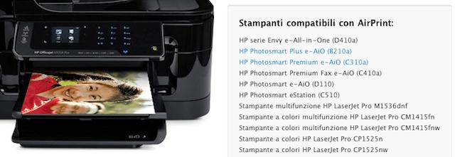 stampanti compatibili con airprint