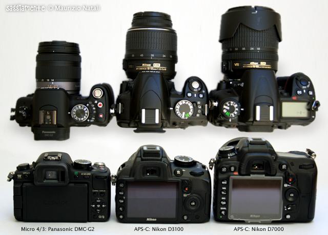 NikonD3100-confronto dimensionale