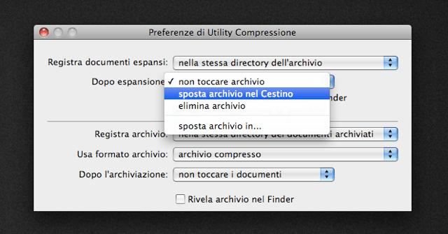 Preferenze di Utility Compressione