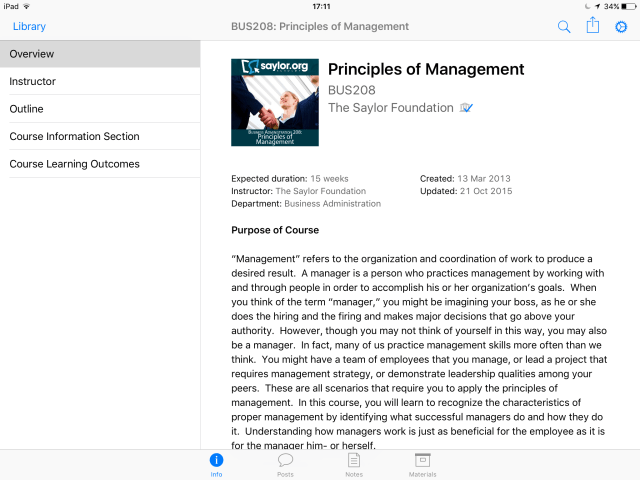 Itunes U management