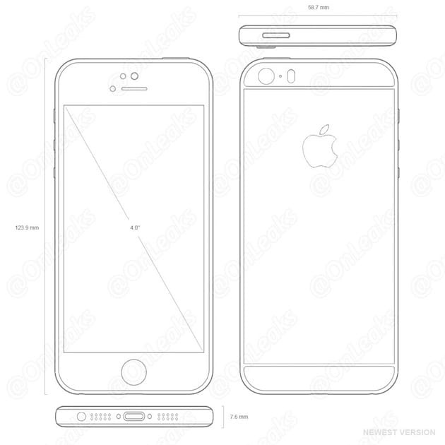 iPhone 5se secondo OnLeaks