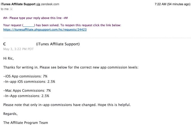 App-affiliate-commission-change