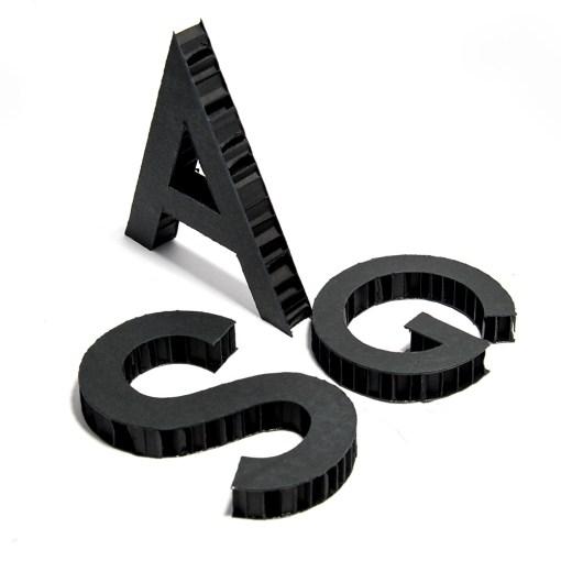 SCRITTE 3D NIDOBOARD NERO