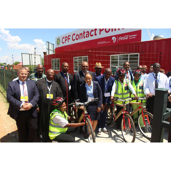 Coke bottler donates container, bicycles to Welkom SAPS ...