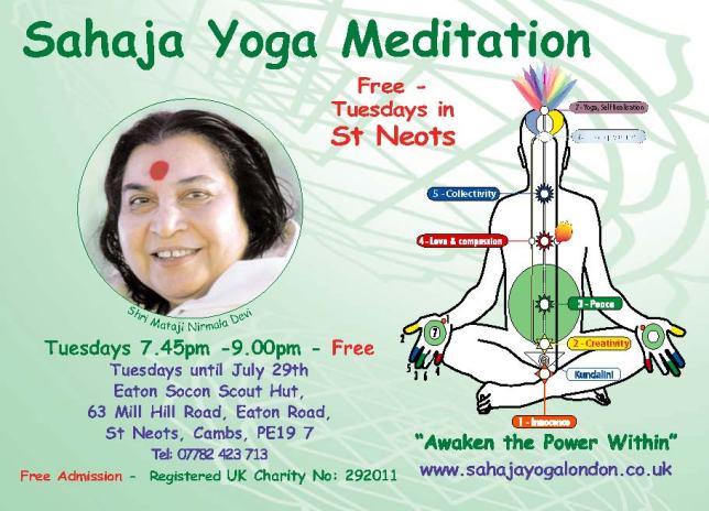 Free Meditation & Yoga Cambridgeshire