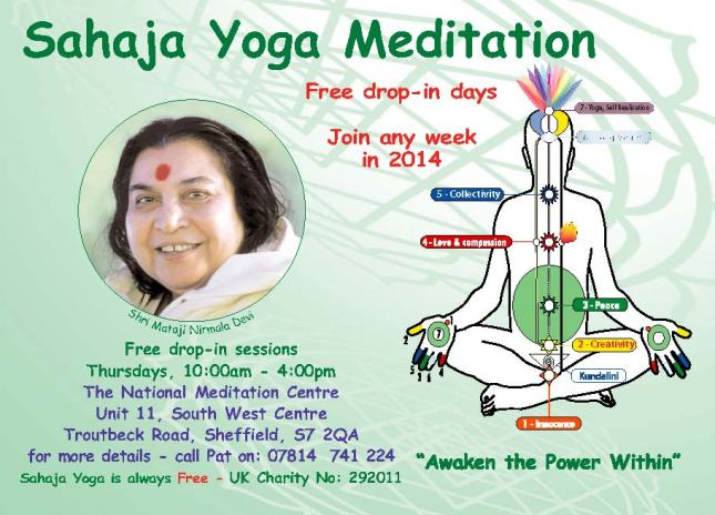Free Meditation - drop in day -opt