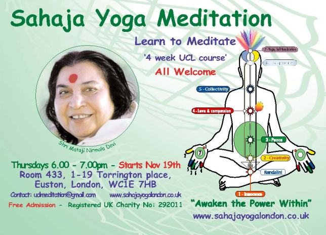 UCL Meditation Course Nov 2014 - FREE