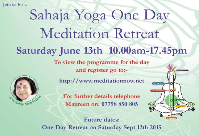 Retreat June 13th & Sept 12th  2015