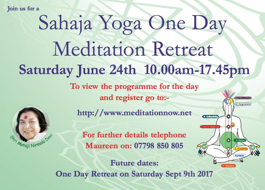 Meditation & Yoga Retreat – June 24th 2017