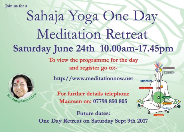 Retreat June 24th & Sept 9th 2017