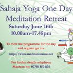 Sahaja Yoga Meditation – Special One Day Retreat – Saturday June 16th 2018