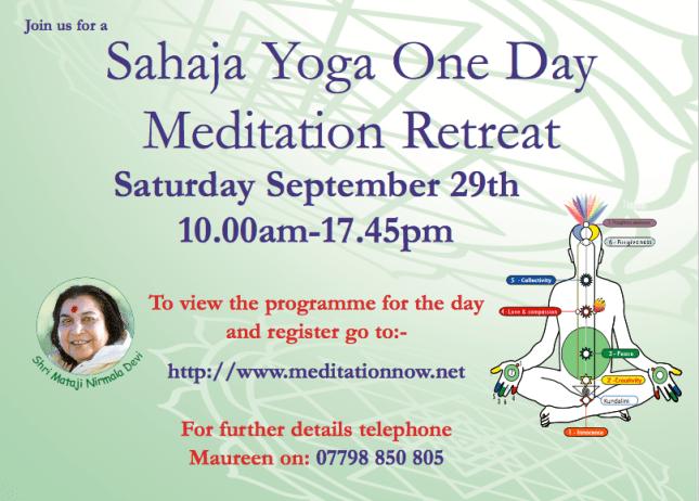 MEDITATION & YOGA Retreat Sept 29th 2018 -1