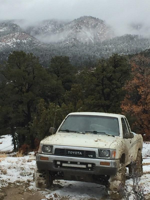 Toyota pickup mud snow chains sahalee off grid