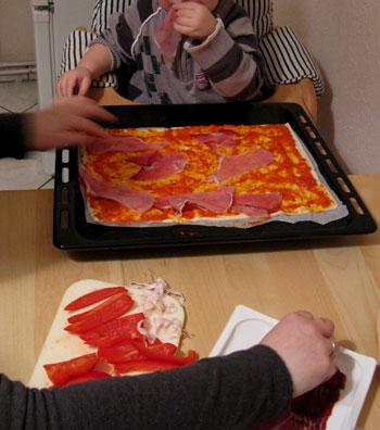 Ajvar-Pizza