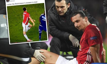 Zlatan Ibrahimovic Out For Rest Of The Season