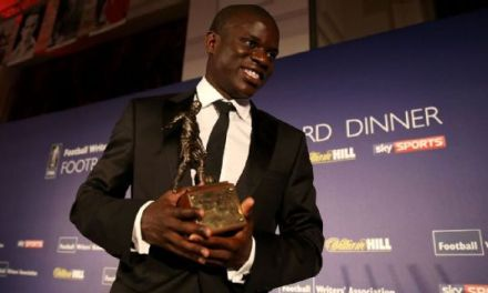 Kante Wins Chelsea's Players' Player Of The Year