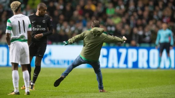 Celtic fan sentenced over Kylian Mbappe incident during PSG match